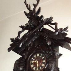 Relojes de pared: GRAN RELOJ CUCO Y CODORNIZ , 1 METRO DE ALTO.ANTIGUO DE MAS DE 100 AÑOS. OK.. Lote 117468087