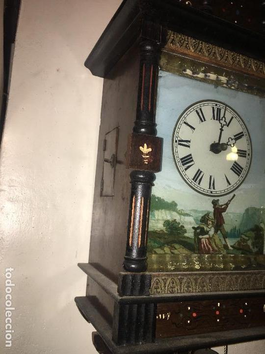 Relojes de pared: BONITO RELOJ PARED SELVA NEGRA ORIGINAL FUNCIONA - Foto 7 - 118413643