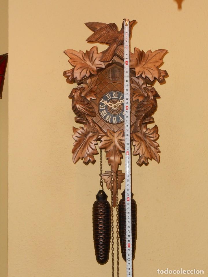 Relojes de pared: RELOJ CUCU-CUCO 7-8 DÍAS DE CUERDA ,MADE IN GERMANY( ALEMANIA,SELVA NEGRA).MECÁNICO. - Foto 2 - 119558207