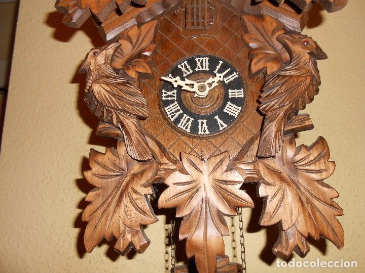 Relojes de pared: RELOJ CUCU-CUCO 7-8 DÍAS DE CUERDA ,MADE IN GERMANY( ALEMANIA,SELVA NEGRA).MECÁNICO. - Foto 4 - 119558207