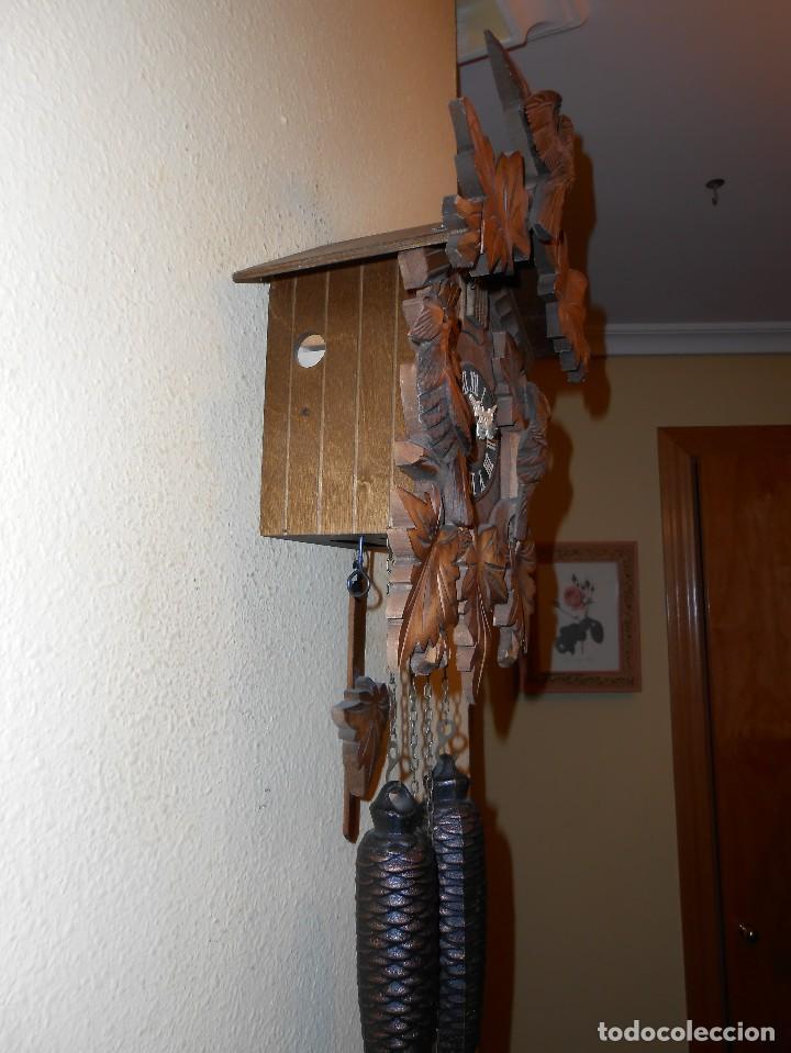 Relojes de pared: RELOJ CUCU-CUCO 7-8 DÍAS DE CUERDA ,MADE IN GERMANY( ALEMANIA,SELVA NEGRA).MECÁNICO. - Foto 6 - 119558207