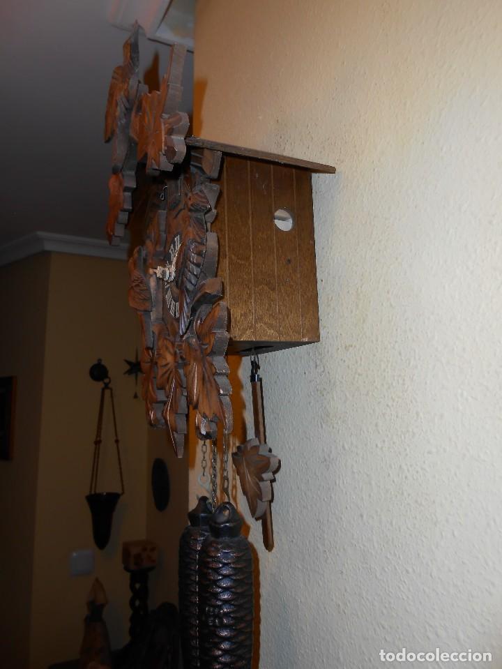 Relojes de pared: RELOJ CUCU-CUCO 7-8 DÍAS DE CUERDA ,MADE IN GERMANY( ALEMANIA,SELVA NEGRA).MECÁNICO. - Foto 7 - 119558207