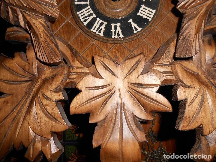 Relojes de pared: RELOJ CUCU-CUCO 7-8 DÍAS DE CUERDA ,MADE IN GERMANY( ALEMANIA,SELVA NEGRA).MECÁNICO. - Foto 16 - 119558207