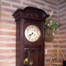 Relojes de pared: ¡¡¡GRAN OFERTA!!!!ANTIGUO REGULADOR ROBLE ALEMAN- SONERIA 4 MARTILLOS Y VARILLAS- AÑO 1920. Lote 120215995