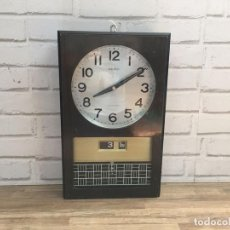 Relojes de pared: RELOJ DE PARED SQUARED BY SEIKO JAPAN CON RELOJ WALL STREET 1979 JAPÓN. Lote 120870288