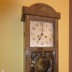 Relojes de pared: RELOJ PARED KIENZLE. ART DÉCO. CRISTAL BISELADO. URBICIO RIU, NAVÁS.. Lote 121036711