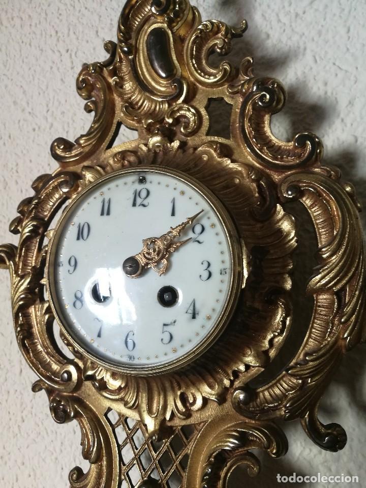 Relojes de pared: Reloj siglo XIX - Foto 2 - 121124915