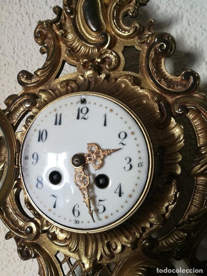 Relojes de pared: Reloj siglo XIX - Foto 4 - 121124915