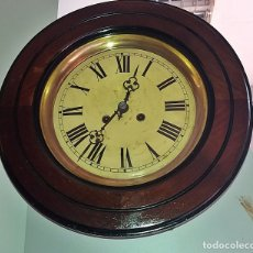 Relojes de pared: RELOJ OJO DE BUEY O DE TABERNA - MAQUINA JUNGHANS- 1882 - FUNCIONANDO. Lote 114582091