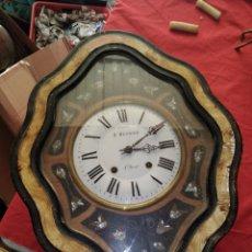 Relojes de pared: ESPECTACULAR RELOJ OJO DE BUEY SIGLO XIX. Lote 121609572