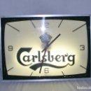 Relojes de pared: CARLSBERG - GRAN RELOJ ELÉCTRICO LUMINOSO. Lote 122991331