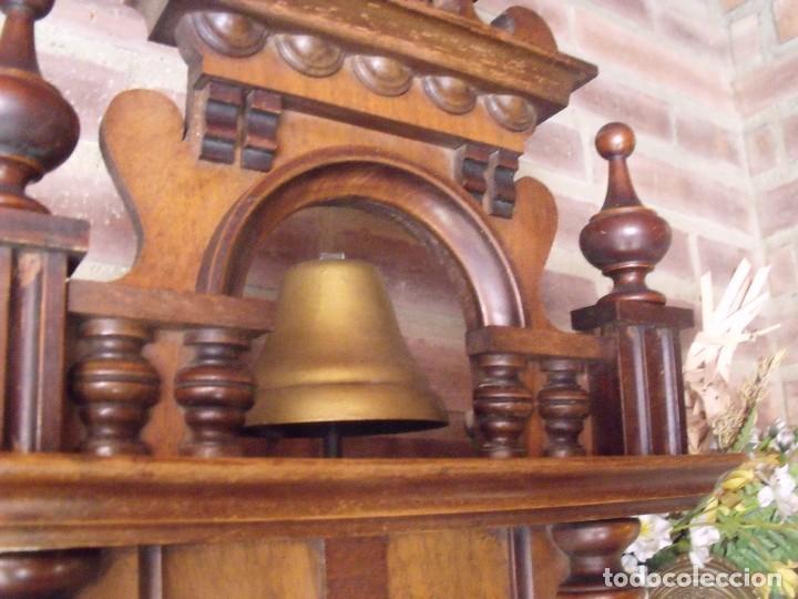 Relojes de pared: RARISIMO Y UNICO-104 CM-RELOJ ALFONSINO PFEILKREUZ- año 1910- SONERIA EN CAMPANA DE BRONCE- - Foto 5 - 123547187