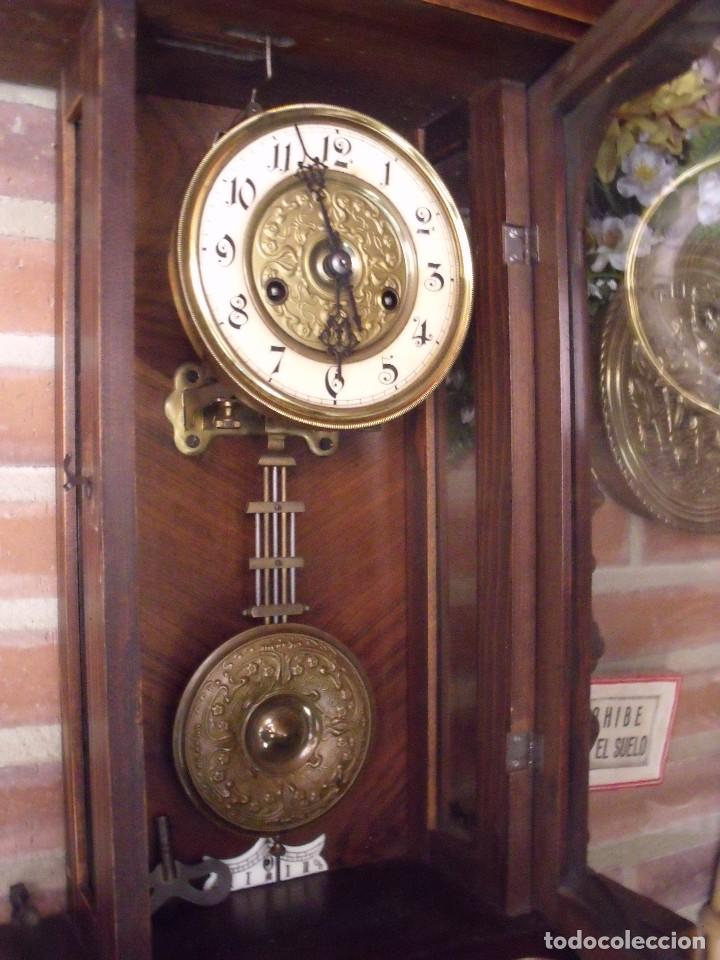 Relojes de pared: RARISIMO Y UNICO-104 CM-RELOJ ALFONSINO PFEILKREUZ- año 1910- SONERIA EN CAMPANA DE BRONCE- - Foto 9 - 123547187