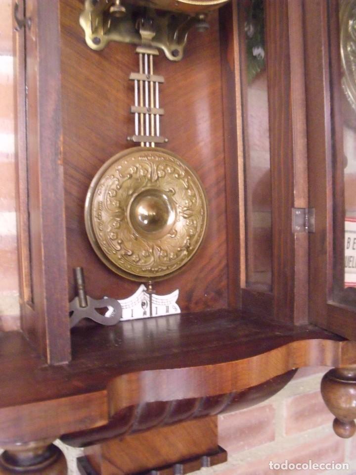 Relojes de pared: RARISIMO Y UNICO-104 CM-RELOJ ALFONSINO PFEILKREUZ- año 1910- SONERIA EN CAMPANA DE BRONCE- - Foto 11 - 123547187