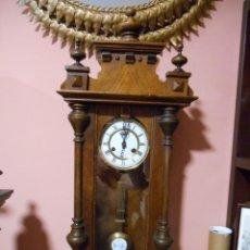 Relojes de pared: ANTIGUO RELOJ DE PARED ALEMAN FUNCIONANDO - FINALES DEL SIGLO XIX -. Lote 123604023