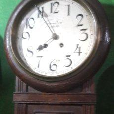 Relojes de pared: RELOG ANTIGUO 1920 FUNCIONANDO TODO ORIGINAL ATKIS CLICK COMO Y BRISTOL CONN ANTIGÜEDADES O ALMACÉN. Lote 124416386