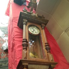 Relojes de pared: ENORME RELOJ ALFONSINO SIGLO XIX MADERA PARA RESTAURAR. Lote 125235767