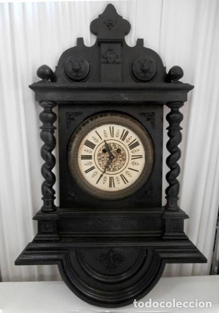RELOJ DE PARED DOBLE CUERDA DE MADERA Y BRONCE DEL RENACIMIENTO (Relojes - Pared Carga Manual)