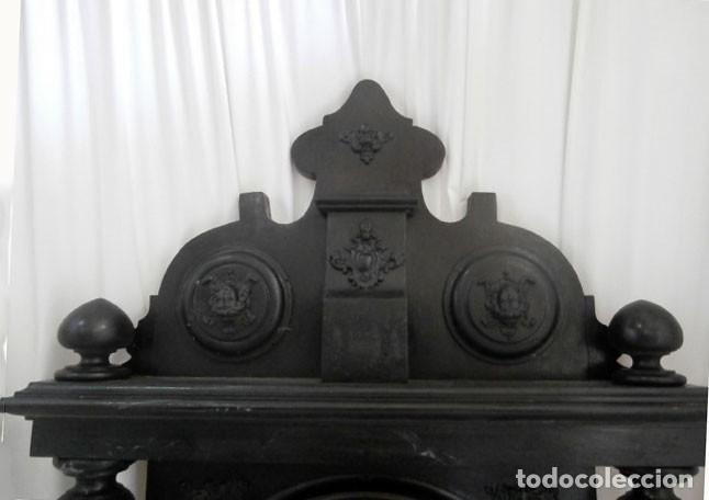 Relojes de pared: RELOJ DE PARED DOBLE CUERDA DE MADERA Y BRONCE DEL RENACIMIENTO - Foto 2 - 126148883