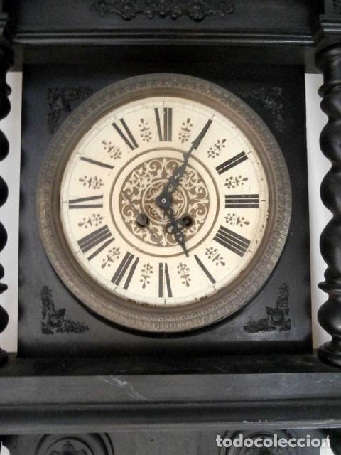 Relojes de pared: RELOJ DE PARED DOBLE CUERDA DE MADERA Y BRONCE DEL RENACIMIENTO - Foto 3 - 126148883