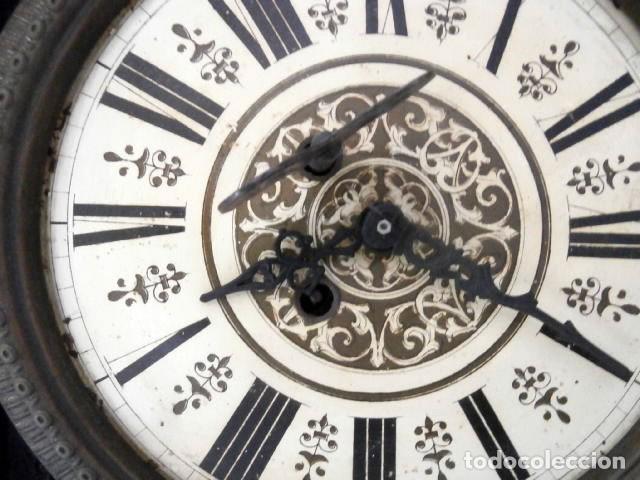 Relojes de pared: RELOJ DE PARED DOBLE CUERDA DE MADERA Y BRONCE DEL RENACIMIENTO - Foto 4 - 126148883