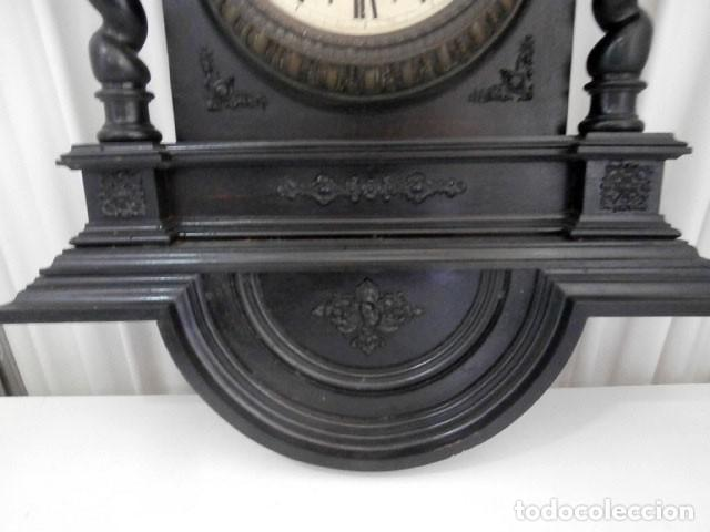 Relojes de pared: RELOJ DE PARED DOBLE CUERDA DE MADERA Y BRONCE DEL RENACIMIENTO - Foto 6 - 126148883