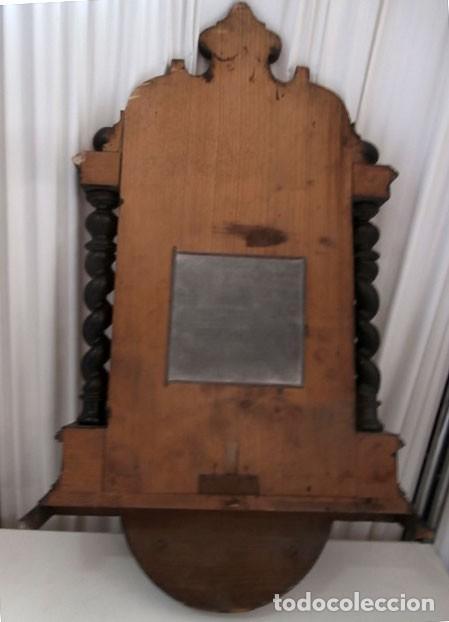Relojes de pared: RELOJ DE PARED DOBLE CUERDA DE MADERA Y BRONCE DEL RENACIMIENTO - Foto 7 - 126148883