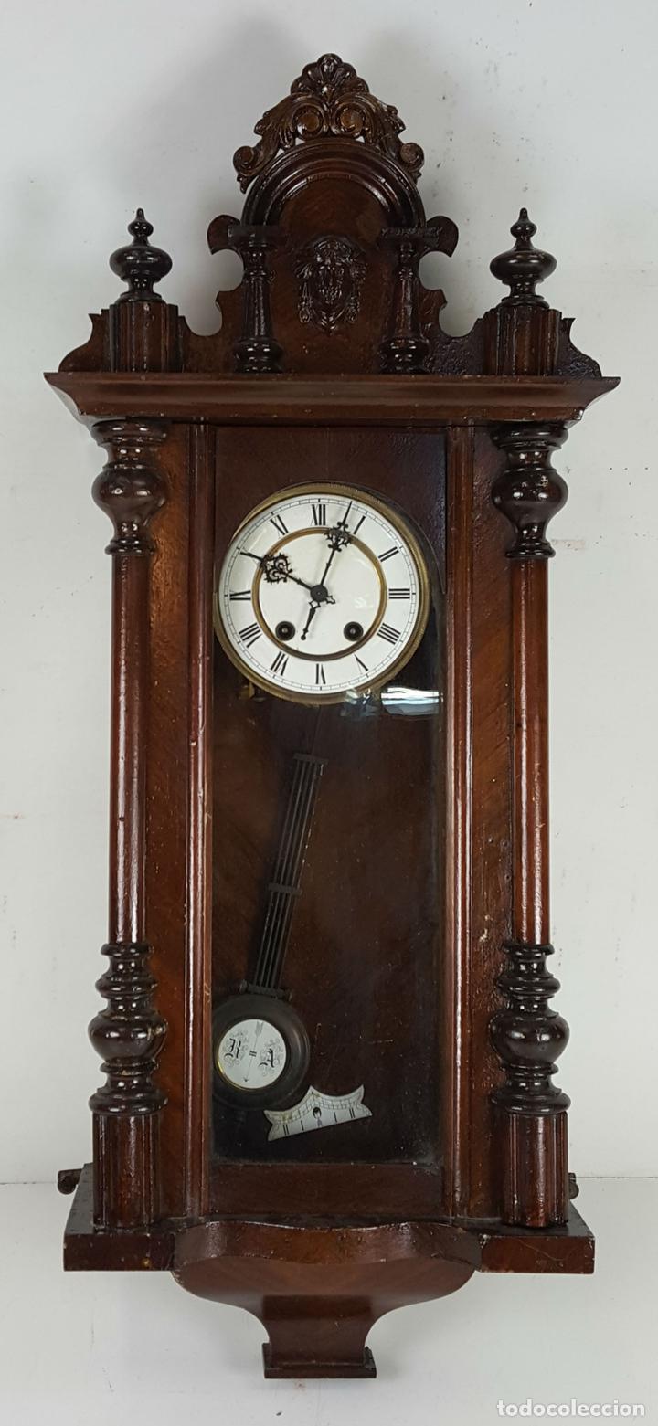 RELOJ DE PARED. CARL WERNER. ESTILO ALFONSINO. ALEMANIA. SIGLO XIX. (Relojes - Pared Carga Manual)