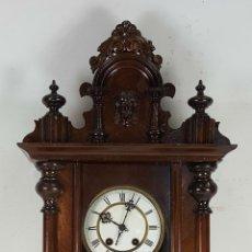 Relojes de pared: RELOJ DE PARED. CARL WERNER. ESTILO ALFONSINO. ALEMANIA. SIGLO XIX. . Lote 126340507