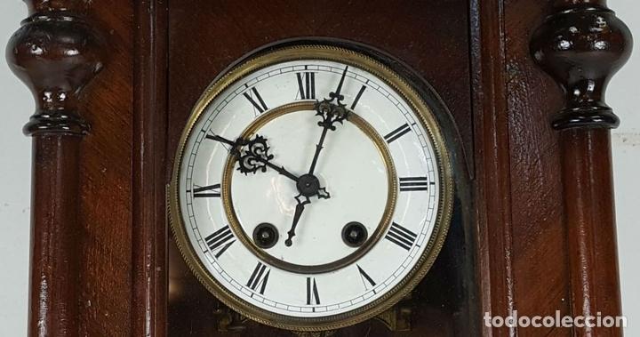 Relojes de pared: RELOJ DE PARED. CARL WERNER. ESTILO ALFONSINO. ALEMANIA. SIGLO XIX. - Foto 3 - 126340507