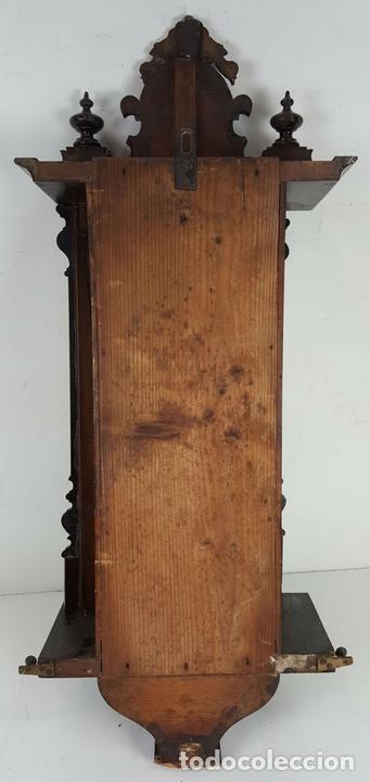 Relojes de pared: RELOJ DE PARED. CARL WERNER. ESTILO ALFONSINO. ALEMANIA. SIGLO XIX. - Foto 7 - 126340507