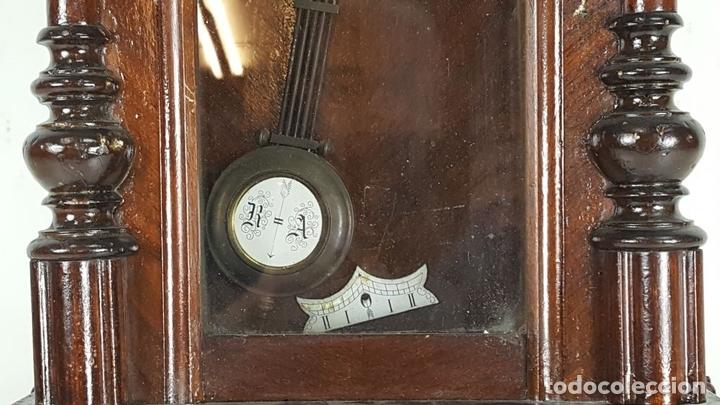 Relojes de pared: RELOJ DE PARED. CARL WERNER. ESTILO ALFONSINO. ALEMANIA. SIGLO XIX. - Foto 9 - 126340507