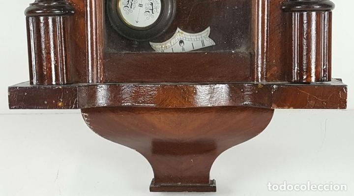 Relojes de pared: RELOJ DE PARED. CARL WERNER. ESTILO ALFONSINO. ALEMANIA. SIGLO XIX. - Foto 14 - 126340507