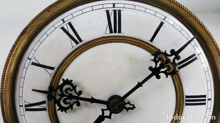 Relojes de pared: RELOJ DE PARED. CARL WERNER. ESTILO ALFONSINO. ALEMANIA. SIGLO XIX. - Foto 23 - 126340507