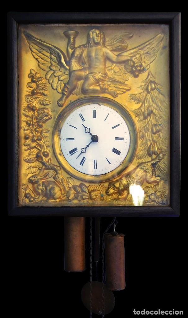 ANTIGUO RELOJ DORADO EN ORO FINO SIGLO XIX (Relojes - Pared Carga Manual)