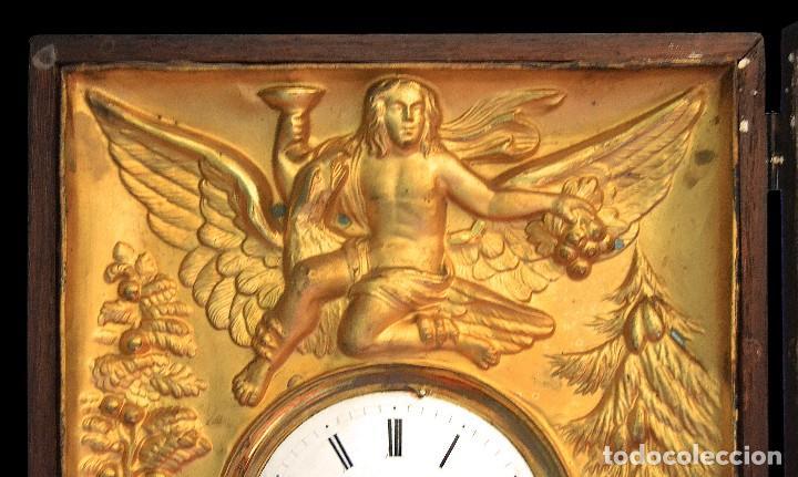 Relojes de pared: antiguo reloj dorado en oro fino siglo xix - Foto 2 - 126857487