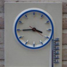Relojes de pared: RELOJ DE PARED CON TERMOMETRO - PUBLICIDAD BOSCH - SERVICE - FUNCIONANDO.. Lote 127130843