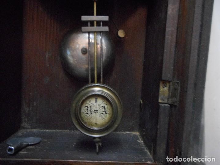 Relojes de pared: reloj alfonsino de pared despertador, finales 1800 raro y dificil - Foto 2 - 128139907