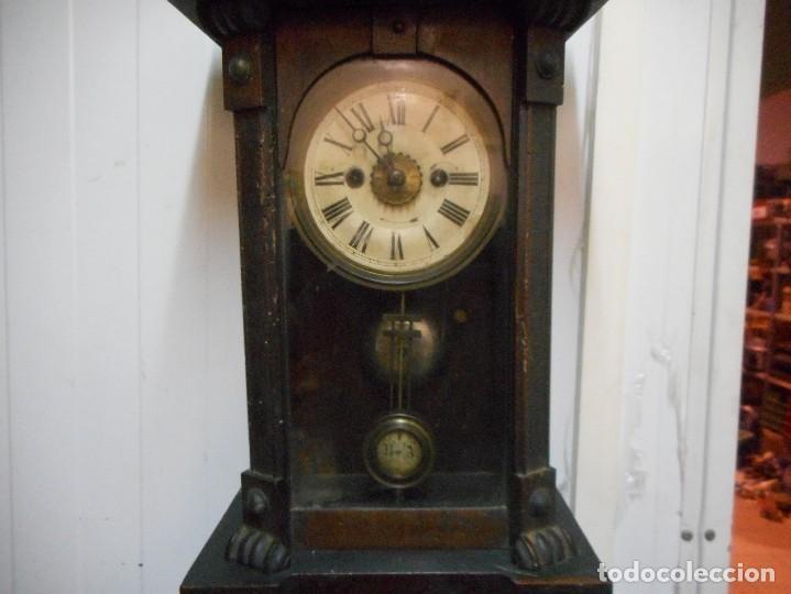 Relojes de pared: reloj alfonsino de pared despertador, finales 1800 raro y dificil - Foto 3 - 128139907