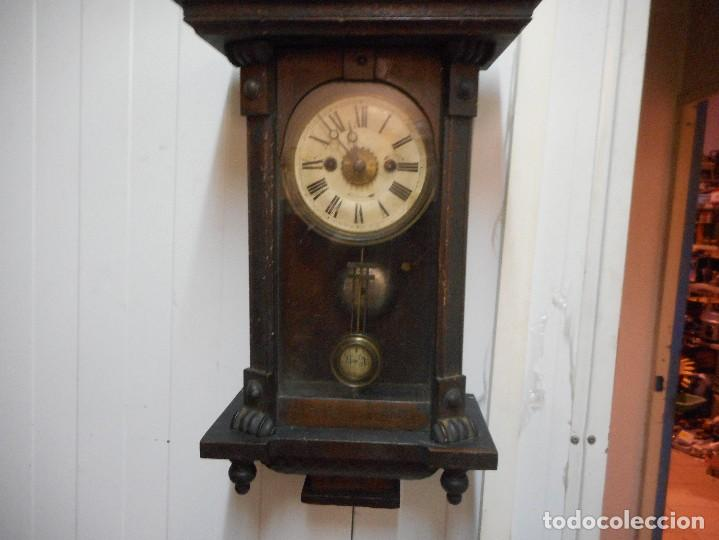 Relojes de pared: reloj alfonsino de pared despertador, finales 1800 raro y dificil - Foto 4 - 128139907