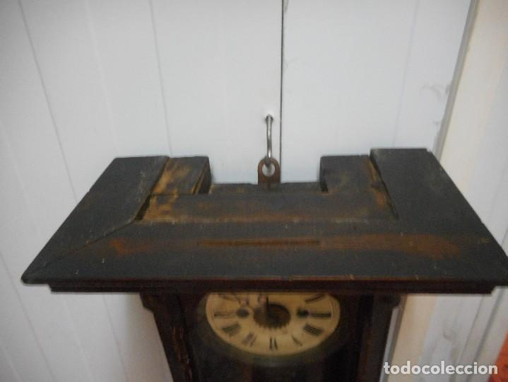 Relojes de pared: reloj alfonsino de pared despertador, finales 1800 raro y dificil - Foto 6 - 128139907