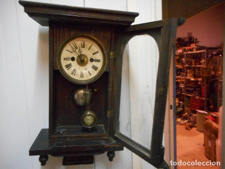 Relojes de pared: reloj alfonsino de pared despertador, finales 1800 raro y dificil - Foto 7 - 128139907