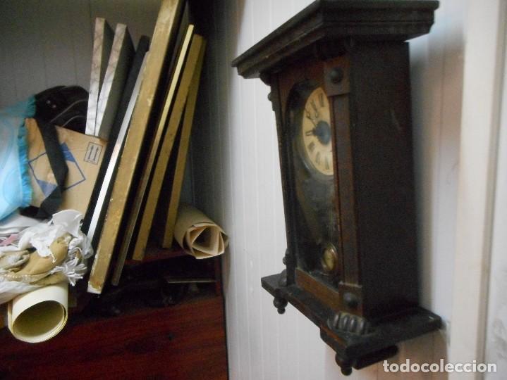 Relojes de pared: reloj alfonsino de pared despertador, finales 1800 raro y dificil - Foto 8 - 128139907