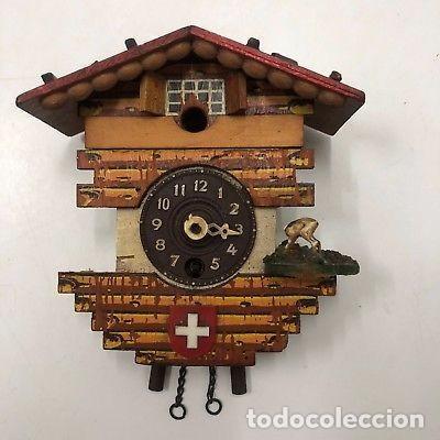 ANTIGUO RELOJ DE CUCO PARA RESTAURAR SUIZO A CUERDA. (Relojes - Pared Carga Manual)