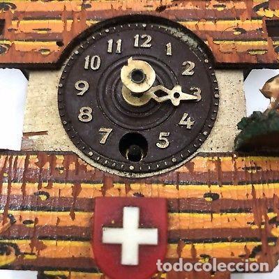 Relojes de pared: ANTIGUO RELOJ DE CUCO PARA RESTAURAR SUIZO A CUERDA. - Foto 3 - 128409371