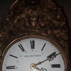 Relojes de pared: RELOG JOSE DE VESOBO RIBADEO LUGO CON PENDULO Y PESAS FUNCIONANDO 1880. Lote 128665440