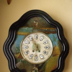 Relojes de pared: ¡¡GRAN OFERTA!! ANTIGUO OJO BUEY PARIS PINTADO AL ÓLEO-AÑO 1880-ORIGINAL-ESFERA ALABASTRO. Lote 130018511