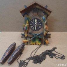 Relojes de pared: RELOJ DE CUCO DE MADERA. Lote 130528310