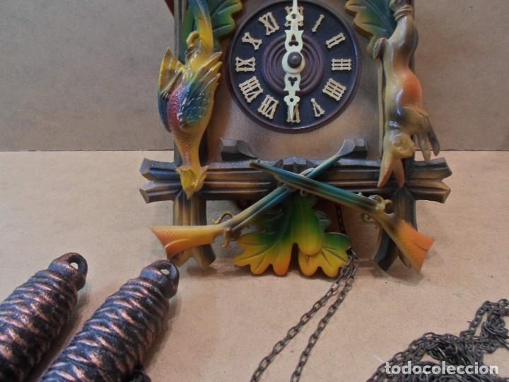 Relojes de pared: RELOJ DE CUCO DE MADERA - Foto 3 - 130528310