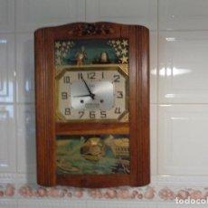 Relojes de pared: RELOJ CON AUTÓMATA FABRICACIÓN FRANCESA ART DECO. Lote 130789956
